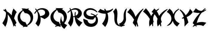 Deng Thick Font UPPERCASE