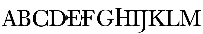 Denial Old Style Regular Font UPPERCASE
