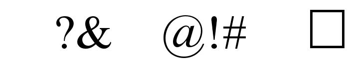 Denial2Regular Font OTHER CHARS