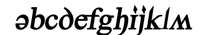 Denial2RegularBoldItalics Font LOWERCASE