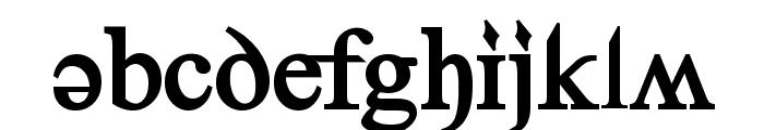 Denial2RegularBold Font LOWERCASE