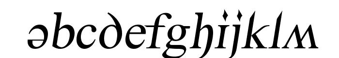 Denial2RegularItalics Font LOWERCASE