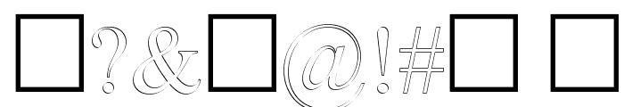 Denial2RegularOutline Font OTHER CHARS