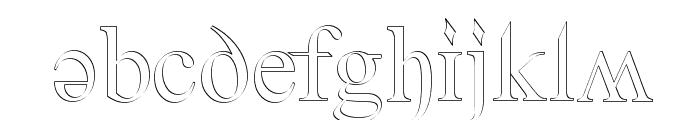 Denial2RegularOutline Font LOWERCASE