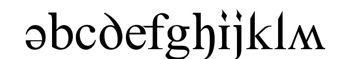 Denial2Regular Font LOWERCASE