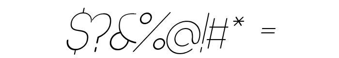 Denigan Oblique Font OTHER CHARS