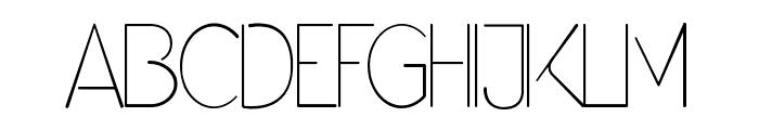 Denigan Font UPPERCASE