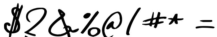 Denishandwritting Font OTHER CHARS