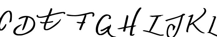 Denishandwritting Font UPPERCASE