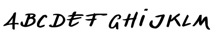 Denishandwritting Font LOWERCASE