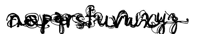 Denne Angel Font LOWERCASE