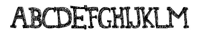 Denne At The Tea Party Font UPPERCASE