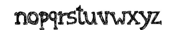Denne At The Tea Party Font LOWERCASE