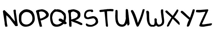Denne Delica Font UPPERCASE