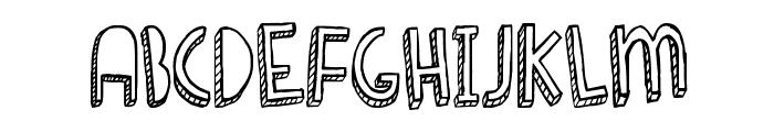 Denne Shuffle Font UPPERCASE