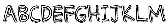 Denne Threedee Font LOWERCASE