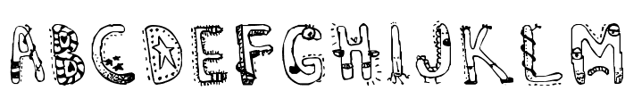 Denne's Aliens Font LOWERCASE