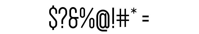 Dense-Regular Font OTHER CHARS