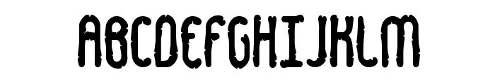 Dented BRK Font UPPERCASE