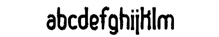 Dented BRK Font LOWERCASE