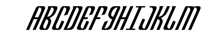 Department H CondensedItalic Font UPPERCASE