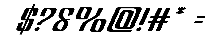 Department H Expanded Italic Font OTHER CHARS
