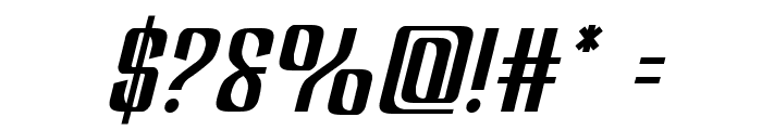 Department H Semi-Italic Font OTHER CHARS