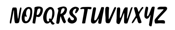 DephionSlanted Font UPPERCASE
