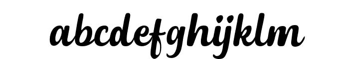 DephionSlanted Font LOWERCASE