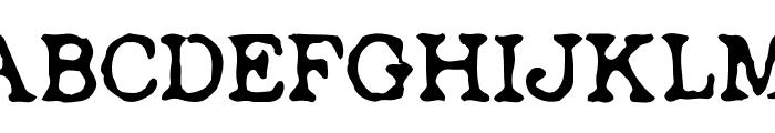 Depot Font UPPERCASE