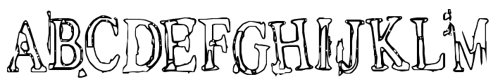 Depressionist v1.0 Font LOWERCASE