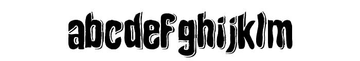 Depth of Toonizm Font LOWERCASE