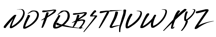 Deranged 1 Font UPPERCASE