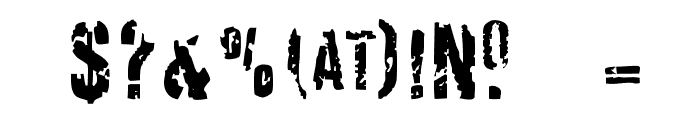 Derivat No2 Font OTHER CHARS