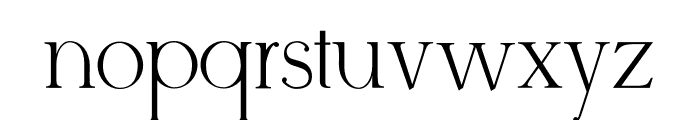 Derivia Font LOWERCASE