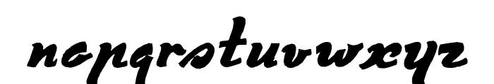 Derniere Script Font LOWERCASE