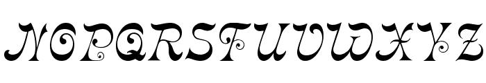 Derniere Font UPPERCASE