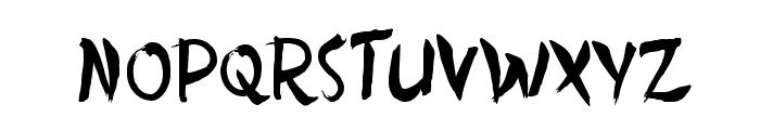 Dersu Uzala brush Font UPPERCASE