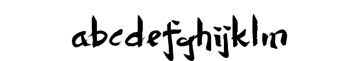 Dersu Uzala brush Font LOWERCASE