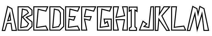 Descuadrado Hollow Font UPPERCASE