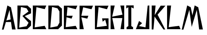 Descuadrado Font LOWERCASE