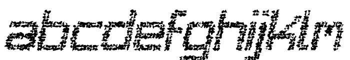 Desgastada tfb Font LOWERCASE