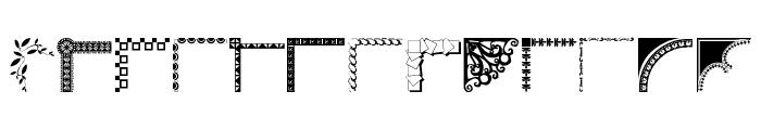 Designer Corners Font LOWERCASE