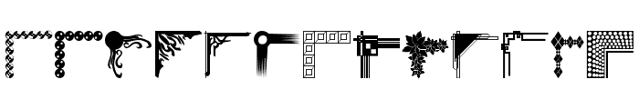 DesignerCorners Font LOWERCASE