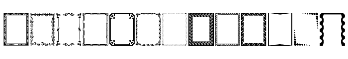 DesignerFramesTwo Font LOWERCASE
