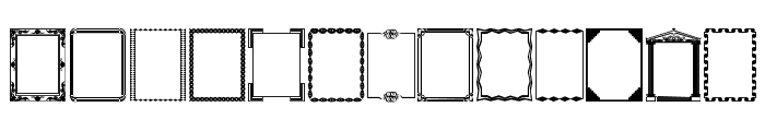 DesignerFrames Font LOWERCASE