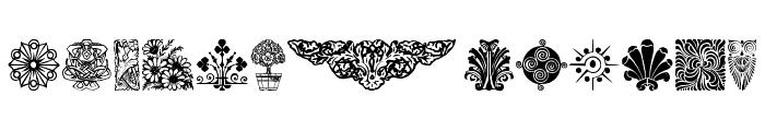DesignerMotifsThree Font LOWERCASE