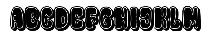 Designero Filled Regular Font UPPERCASE