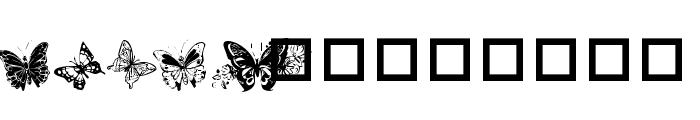 Destiny's Butterfly Dingbats Font UPPERCASE