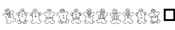 Destiny's Gingerbread Dings Font UPPERCASE